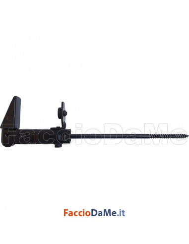 Fermascuri Regolabili con Vite Lunga da 18cm per Cappotto Rustico Colore Nero