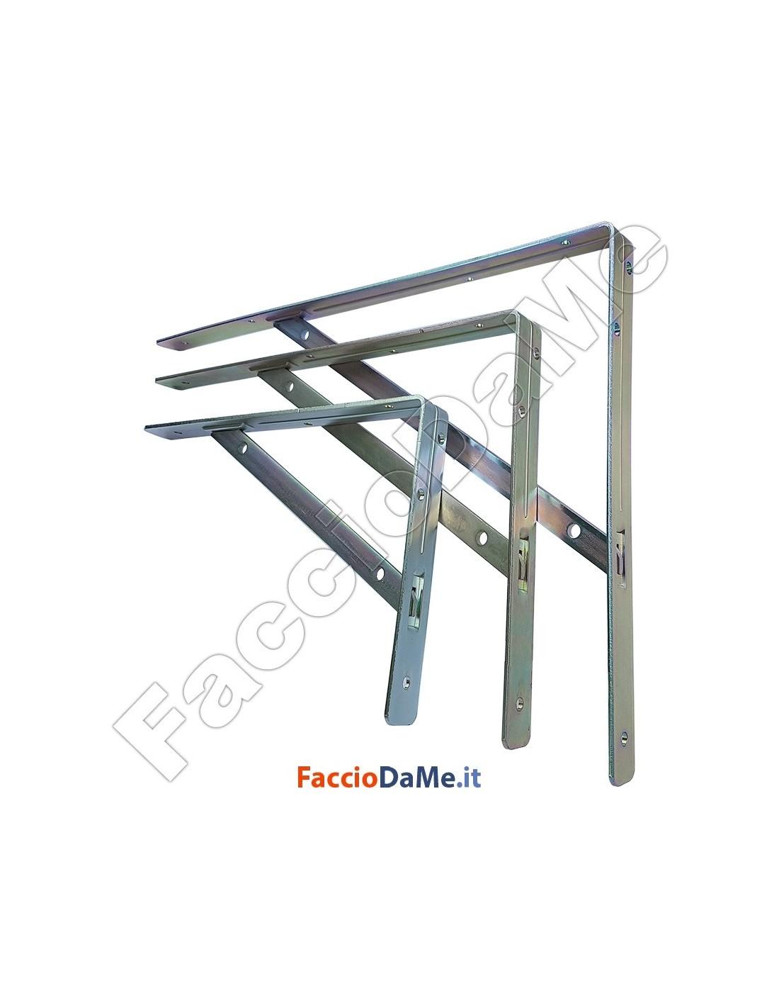 Mensola mensole reggimensola grande portata in acciaio for Mensola 30 cm