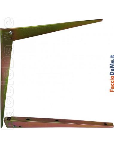 Mensola Mensole Richiudibile Ribaltabile Pesante in Acciaio Tropical 40cm 2 pezzi