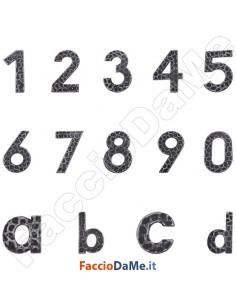 Numeri Lettere Civici in Ferro Battuto 120mm Serie Tirolo DiDiEffe