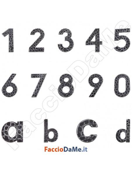 Numeri Civici Lettera Civica in Ferro Battuto 120 mm Serie Tirolo DiDiEffe