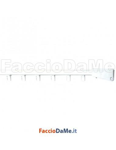 Binario a Corda in Alluminio Applicazione a Soffitto 13,5x19,5mm Colore Bianco