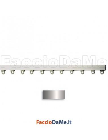 Binario per Tende in Alluminio Applicazione a Soffitto 13x8,4mm Bianco o Argento