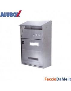 Cassetta Posta Postale Serie Effe F1 con Tetto Alubox Inox FUT22784