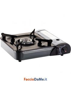 Fornello a Gas Portatile con Valigetta per Campeggio Picnic Smart Kemper 104987