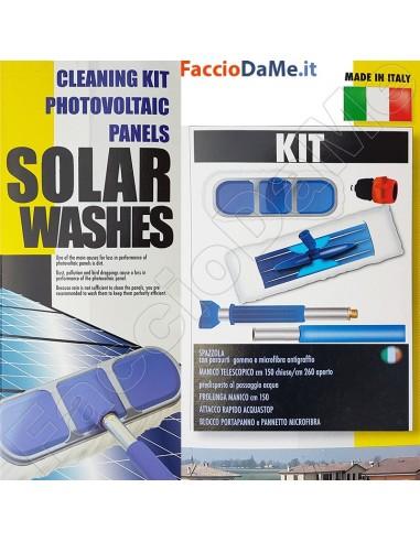 Set Kit per la Pulizia dei Pannelli Solari Fotovoltaici Solar Washes 2012