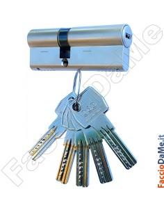 Cilindro di Sicurezza con 5 Chiavi per Serrature AGB Scudo 5000 Varie Misure