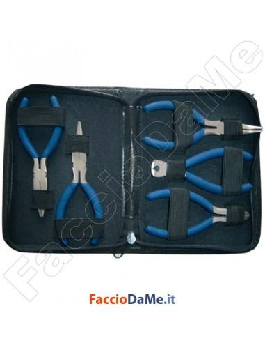 Set Kit Assortimento 5 Pinze Tronchesino e Tenaglia con Custodia Axel FU0567
