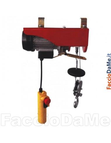 Paranco Montacarichi Elettrico in Acciaio Portata 125-250kg Axel FU13080