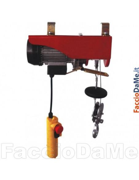 Paranco Montacarichi Elettrico in Acciaio Portata 200-400kg Axel FU13082