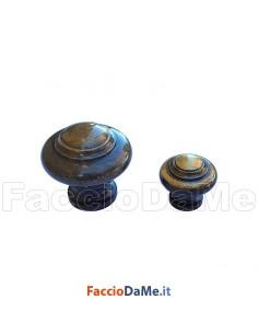 Pomolo Sagomato con Base Tonda A.730 in Ottone Bronzo Satinato Diametro 20 30 mm