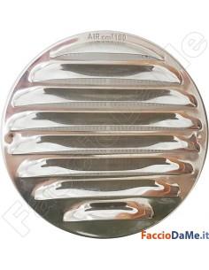 Griglia Aerazione in Acciaio Inox con Molle e Rete Diametro Esterno 15 e 18 cm