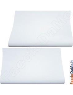 Pellicola Plastica Carta Adesiva Bianca Lucida e Opaca Altezza 45cm 10mt Noblessa