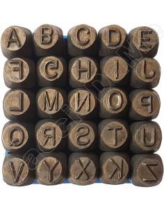 Punzoni in Acciaio Lettere 5 6 mm Alta Qualità Professionale