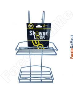 Contenitore Mensola Portasapone per Doccia in Acciaio da Appendere Shower Lock D16