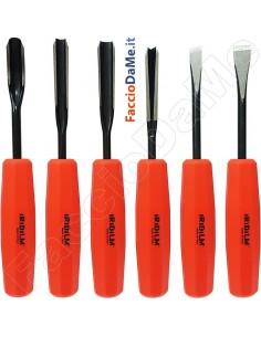 Sgorbie per Scultori Professionale Utensili da Taglio Manico in Plastica 6 pezzi