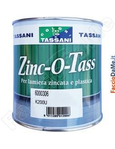 Smalto Satinato per Lamiera Zincata e Plastica Zinc-o-Tass 750ml Tassani 6000