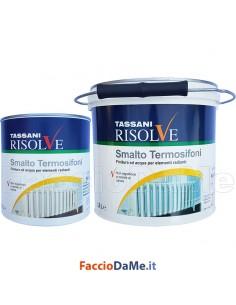 Smalto Termosifoni Radiatori Non Ingiallisce 750ml 2,5lt Bianco Risolve Tassani 3370