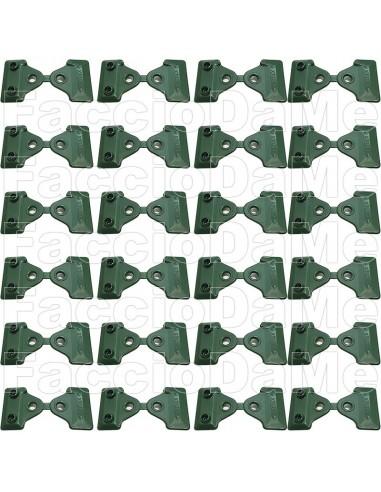 Clips Bottoni Verdi 24 Pezzi per Fissaggio Rete Telo Ombreggiante Oscurante