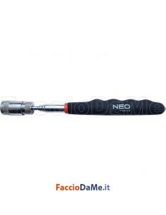 Torcia con Calamita Supporto Magnetico Allungabile da 19 a 80 cm con Luce Topex 11-611