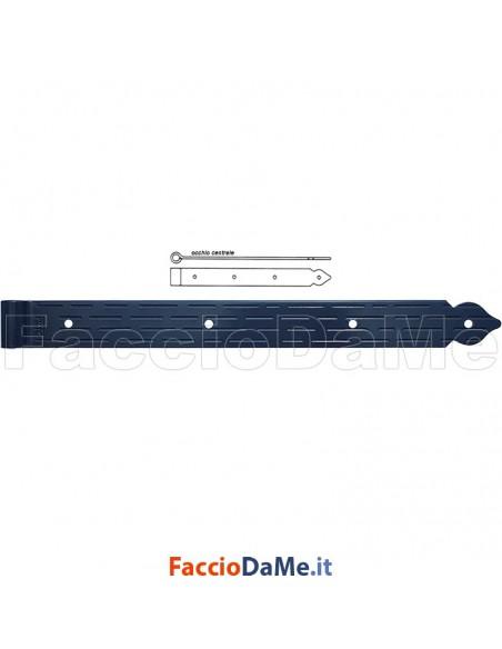Bandella Dritta con Occhio Centrale in Acciaio Colore Nero Spina 12 Omad 1226-N
