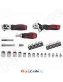 Set Kit Assortimento Cacciaviti Chiavi a Bussola Attacco 3/8 e 1/4 con Prolunghe