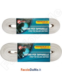 Cintino Corda per Tapparelle Portafinestra in Cotone con Rinforzi 5,5 - 7,5 metri