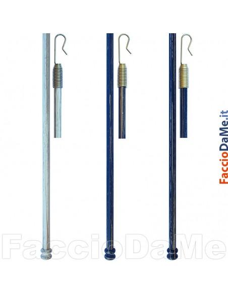 Bastone Bastoni per Tende Tiratende Spingitenda Asta in Ferro Gancio a Molla Q9040