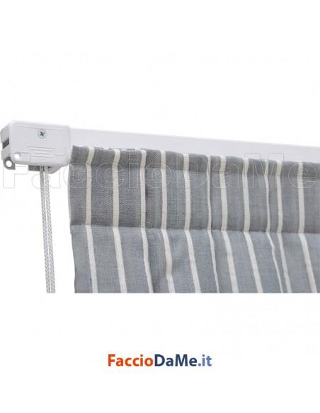 Binario per Tende Arricciate in Alluminio Bianco Apertura Centrale con Accessori