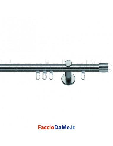 Set Kit Bastone Binario per Tende in Metallo Nickel Satinato Ø 20 ANDRAX FB20101
