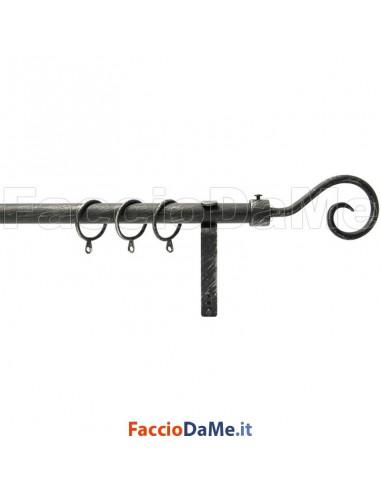 Set Kit Bastone per Tende in Ferro Completo Estensibile 120-210 cm RICCIOLO G330