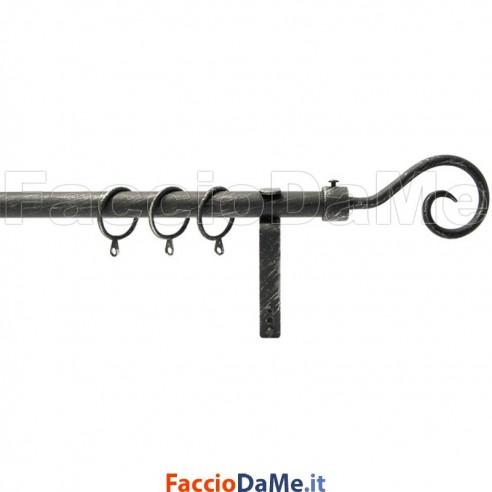 Set Kit Bastone per Tende in Ferro Completo Estensibile 170-300 cm RICCIOLO G330