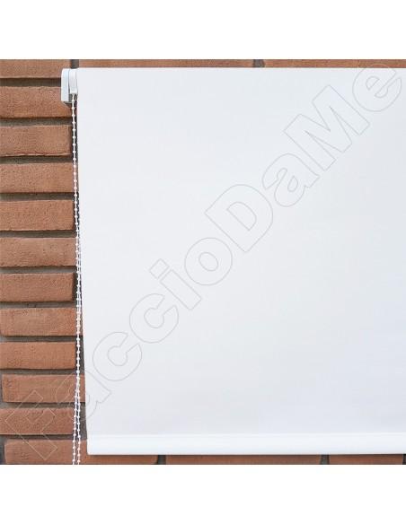 Tenda Tapparella a Rullo Ombreggiante Poliestere a Catena Colore Bianco Misure Varie