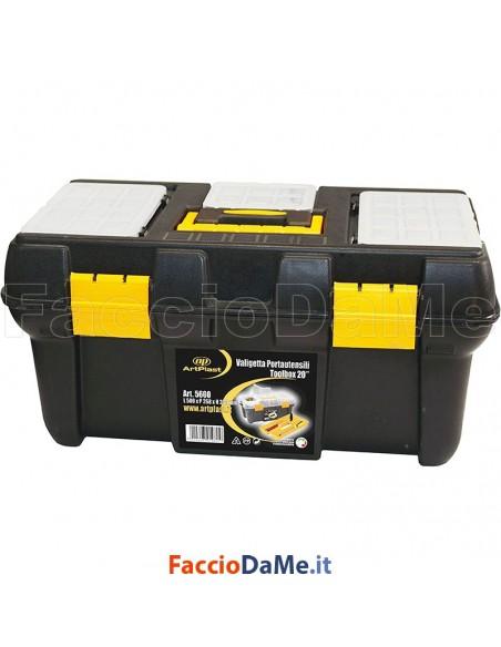 Cassetta Valigetta Porta Utensili 50x27x23 cm Linea Valentino Art Plast 5600 - SPEDIZIONE GRATUITA
