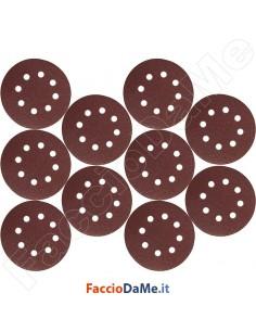 Dischi di Carta Abrasiva Velcrata Corindone con Velcro Diametro 127mm 10 pezzi