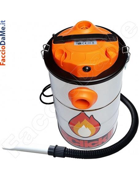 Aspiracenere Ignifugo Pulizia con un Click 800 watt Fire&Box 2Click W8020 - SPEDIZIONE GRATUITA