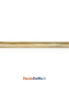 Bastone Palo Tubo per Tende in Ferro Battuto Diametro 20 mm Colore Bianco Oro