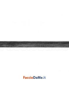 Bastone Palo Tubo per Tende in Ferro Battuto Diametro 20 mm Colore Nero Argento