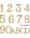 Numeri Civici 80mm Lettera Civica 50mm Stile Romano Ottone Oro Lucido con Perni