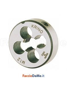 Filiere Tonde al Cromo con Filettatura Metrica Passo Grosso Krino 12001