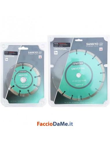Disco Diamantato Universale per Taglio Cemento Mattoni Granito 115 230 mm Sankyo