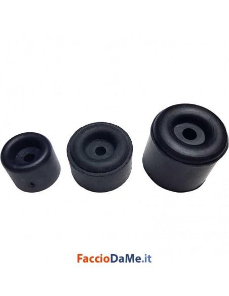 Fermaporte Tappi Paracolpi in PVC da Avvitare Colore Nero 20 pz Diametro 25 30 40 mm