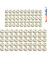 Paracolpi Troncoconici Tappi Tondi in Vinilgomma Colore Bianco Confezione da 50 pezzi
