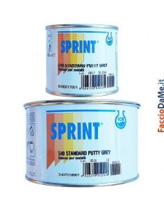 Stucco Mastice S40 per Metalli con Induritore Colore Grigio Sprint Icr 125 500 750 ml