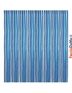 Tenda da Sole in Cordino Diametro 6 mm Colore Blu-Celeste-Bianco Varie Misure Italy