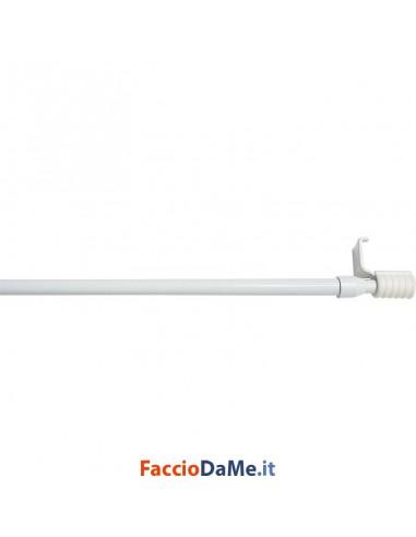 Bastone per Tende Bris a Molla EA69 in Acciaio Colore Bianco Diametro 9 mm