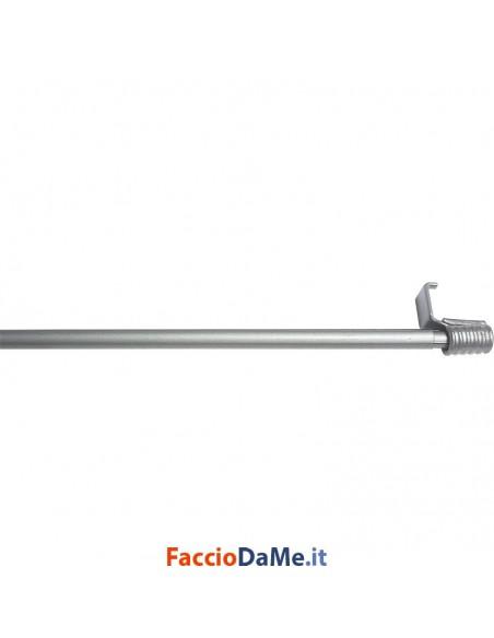 Bastone per Tende Bris a Molla EA69 in Acciaio Colore Satinato Diametro 9 mm