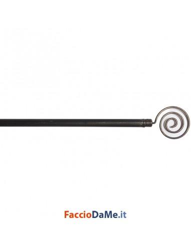 Bastone per Tende Bris Estensibile EA08 in Acciaio Colore Nero-Oro Diametro 10mm