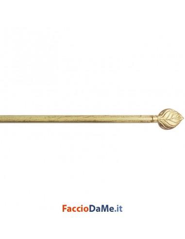 Bastone per Tende Bris Estensibile EA09 in Acciaio Colore Avorio-Oro Diametro 10mm