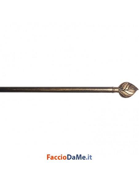 Bastone per Tende Bris Estensibile EA09 in Acciaio Colore Nero-Oro Diametro 10mm